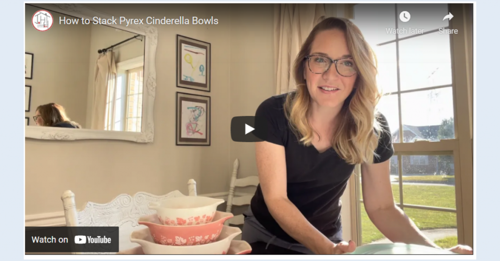 How to Stack Pyrex Cinderella Bowls